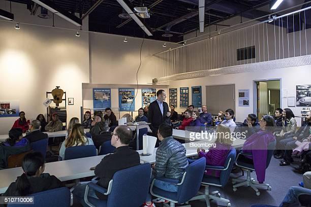 Michael Landry lead detection scientist of the Laser Interferometer GravitationalWave Observatory center speaks during a public tour of the Laser...