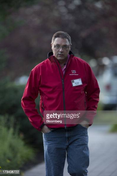 Michael Larson business manager for Cascade Investment LLC walks to a morning session at the Allen Co Media and Technology Conference in Sun Valley...