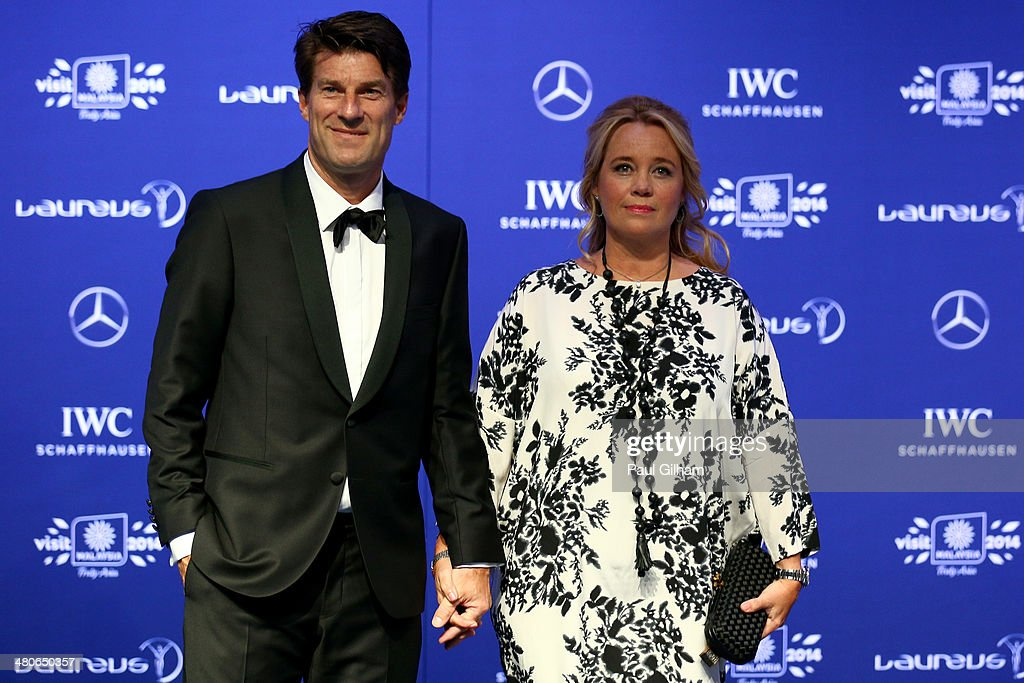 <a gi-track='captionPersonalityLinkClicked' href=/galleries/search?phrase=Michael+Laudrup&family=editorial&specificpeople=2380115 ng-click='$event.stopPropagation()'>Michael Laudrup</a> and wife Siw Laudrup attends the 2014 Laureus World Sports Awards at the Istana Budaya Theatre on March 26, 2014 in Kuala Lumpur, Malaysia.