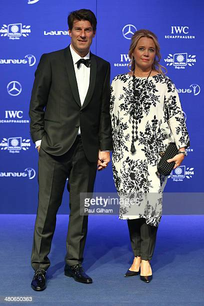 Michael Laudrup and wife Siw Laudrup attends the 2014 Laureus World Sports Awards at the Istana Budaya Theatre on March 26 2014 in Kuala Lumpur...