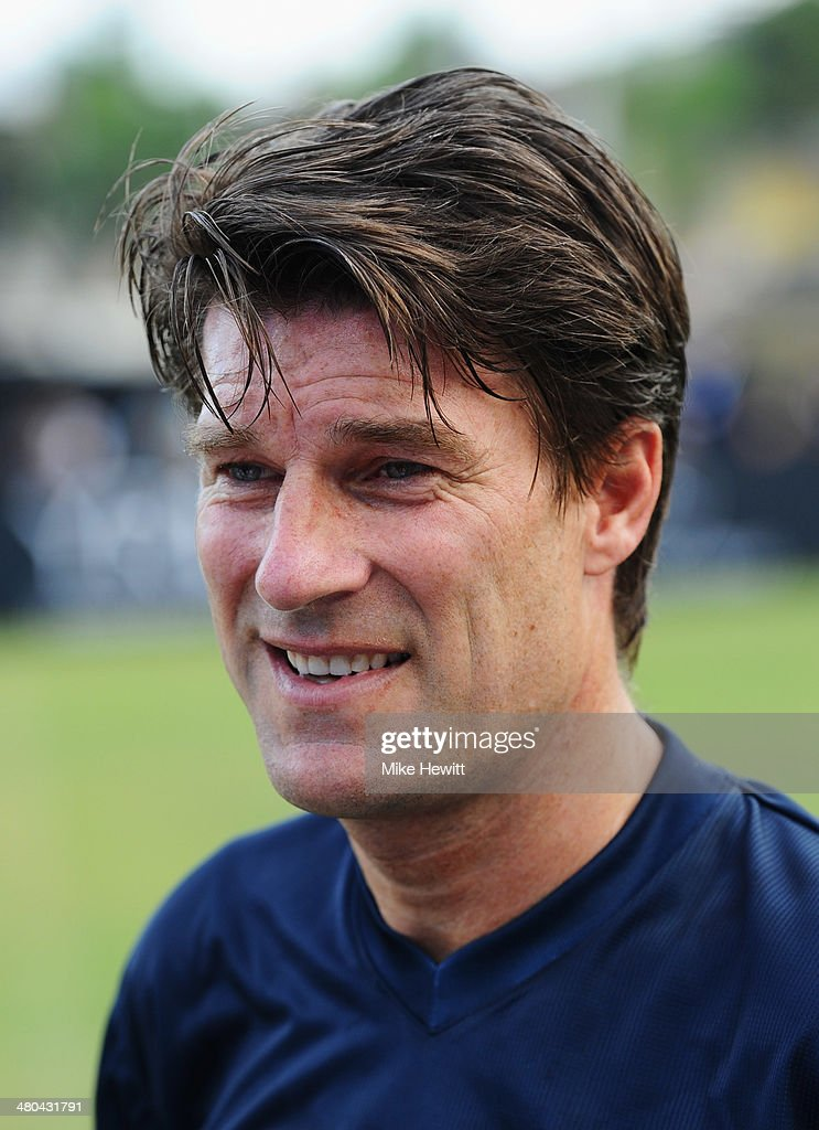 <a gi-track='captionPersonalityLinkClicked' href=/galleries/search?phrase=Michael+Laudrup&family=editorial&specificpeople=2380115 ng-click='$event.stopPropagation()'>Michael Laudrup</a> looks on during the Laureus All Stars Unity Cup ahead of the 2014 Laureus World Sports Awards at Royal Selangor Club on March 25, 2014 in Kuala Lumpur, Malaysia.
