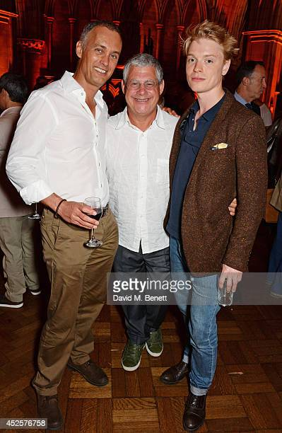 Michael Le Poer Trench Sir Cameron Mackintosh and Freddie Fox attend an after party celebrating the press night performance of 'Shakespeare In Love'...