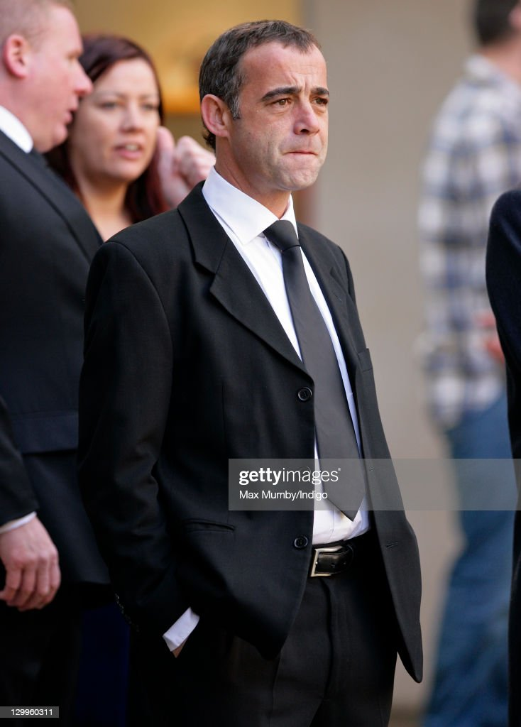 Michael Le Vell attends the funeral of 'Coronation Street' actress Betty Driver at St. Ann's Church on October 22, 2011 in Manchester, England.