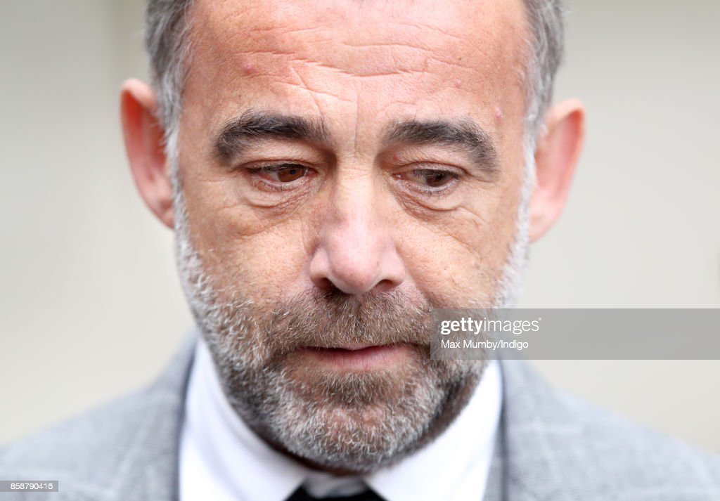 Michael Le Vell attends the funeral of Liz Dawn at Salford Cathedral on October 6, 2017 in Salford, England. Actress Liz Dawn played Vera Duckworth in Coronation Street for 34 years. She died aged 77 on September 25, 2017.