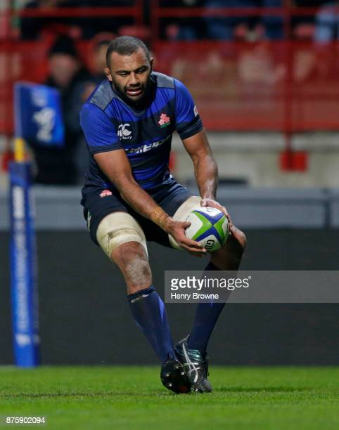 Michael Leitch of Japan scores a try during the international match between Japan and Tonga at Stade Ernest Wallon on November 18 2017 in Toulouse...