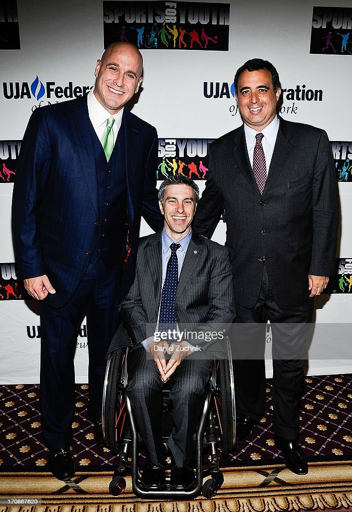 Michael Levine, Victor Calise and Russell Wolff attend UJA-Federation Of New York's Sports for Youth Luncheon at The Roosevelt Hotel on June 19, 2013 in New York City.