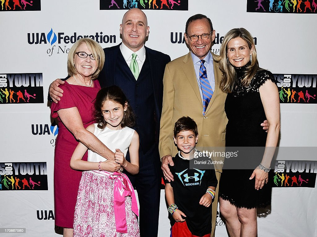 Michael Levine with family attend UJA-Federation Of New York's Sports for Youth Luncheon at The Roosevelt Hotel on June 19, 2013 in New York City.
