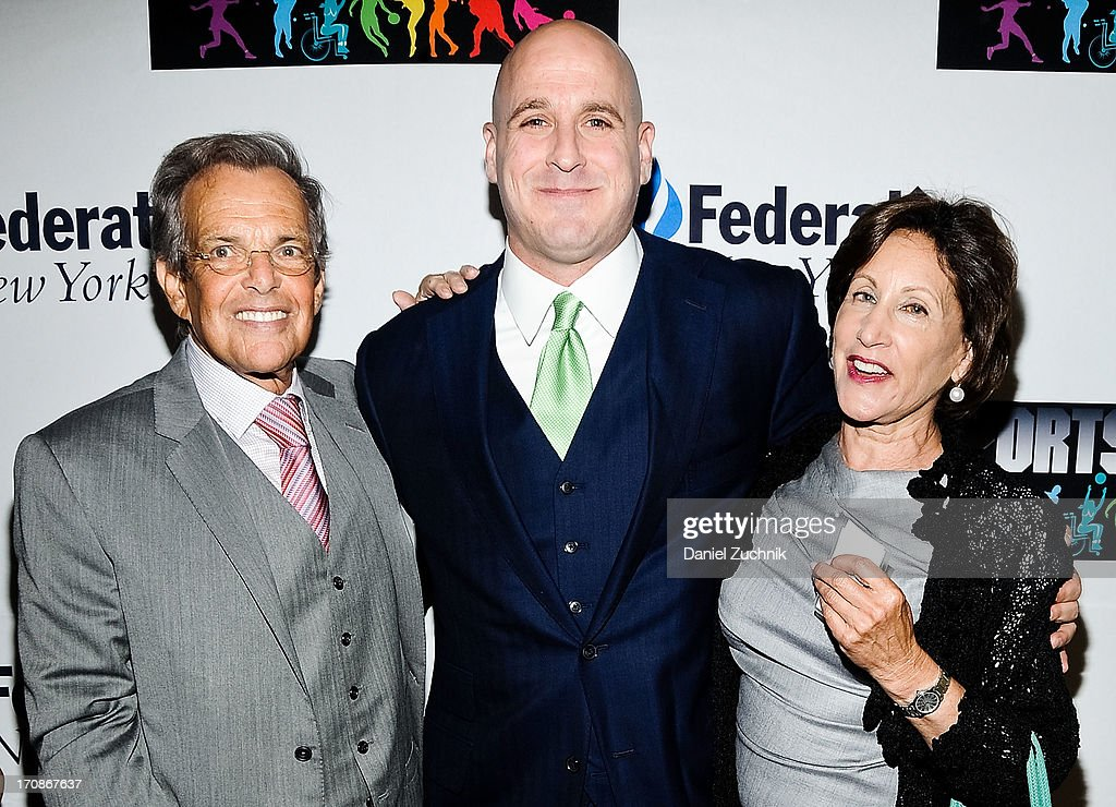 Michael Levine(C) with guests attend UJA-Federation Of New York's Sports for Youth Luncheon at The Roosevelt Hotel on June 19, 2013 in New York City.