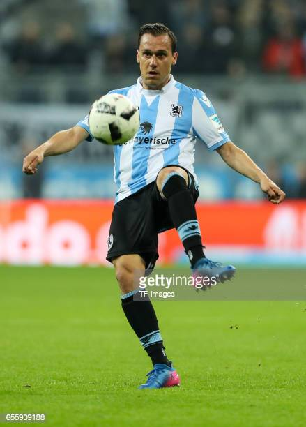 Michael Liendl of 1860 Munich controls the ball during the Second Bundesliga match between TSV 1860 Muenchen and FC Wuerzburger Kickers at Allianz...