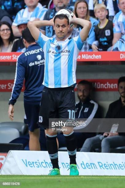Michael Liendl of 1860 Munich controls the ball during the Second Bundesliga match between TSV 1860 Muenchen and VfL Bochum at Allianz Arena on May...