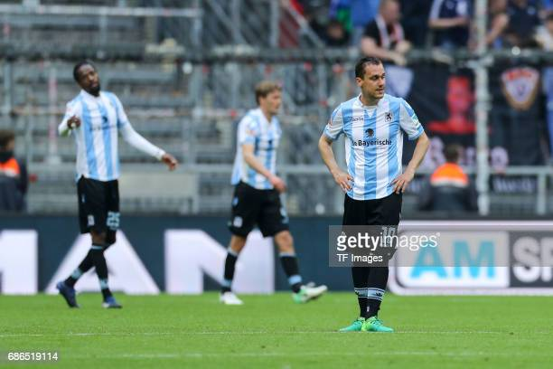 Michael Liendl of 1860 Munich looks dejected during the Second Bundesliga match between TSV 1860 Muenchen and VfL Bochum at Allianz Arena on May 14...