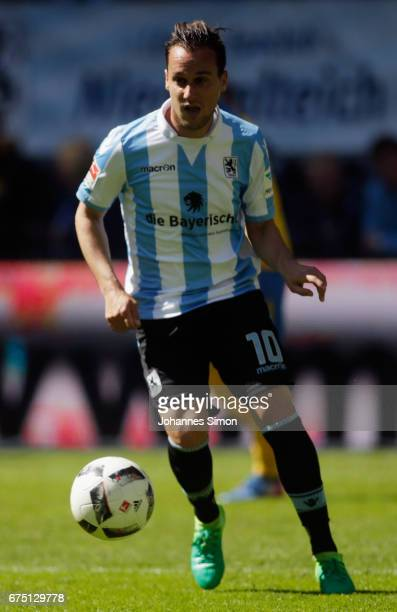 Michael Liendl of Muenchen in action during the Second Bundesliga match between TSV 1860 Muenchen and Eintracht Braunschweig at Allianz Arena on...