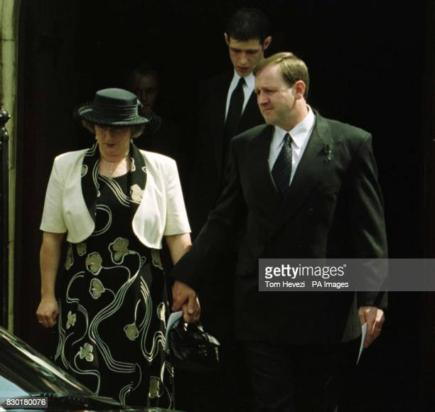 Michael Light with his wife Nicky leave the funeral for his brother John at the Wimpole Road Methodist Church in Colchester Gala bingo hall manager...