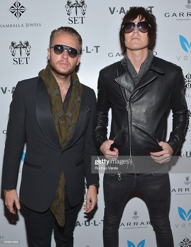Michael Lillelund and Austin Sands attend the V.A.U.L.T. Art Basel Party on December 6, 2012 in Miami, Florida.