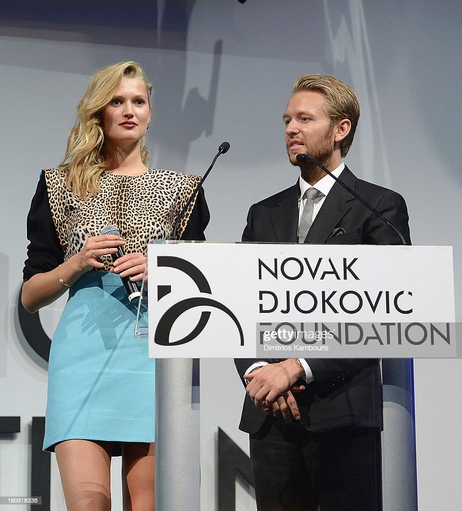 Michael Lillelund (R) and guest attend he Novak Djokovic Foundation New York Dinner at Capitale on September 10, 2013 in New York City.