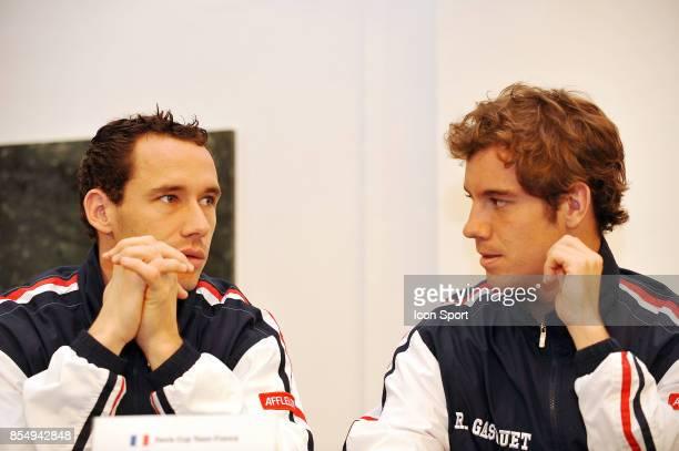Michael LLODRA / Richard GASQUET Tirage au sort Coupe Davis Republique Tcheque / France Ostrava