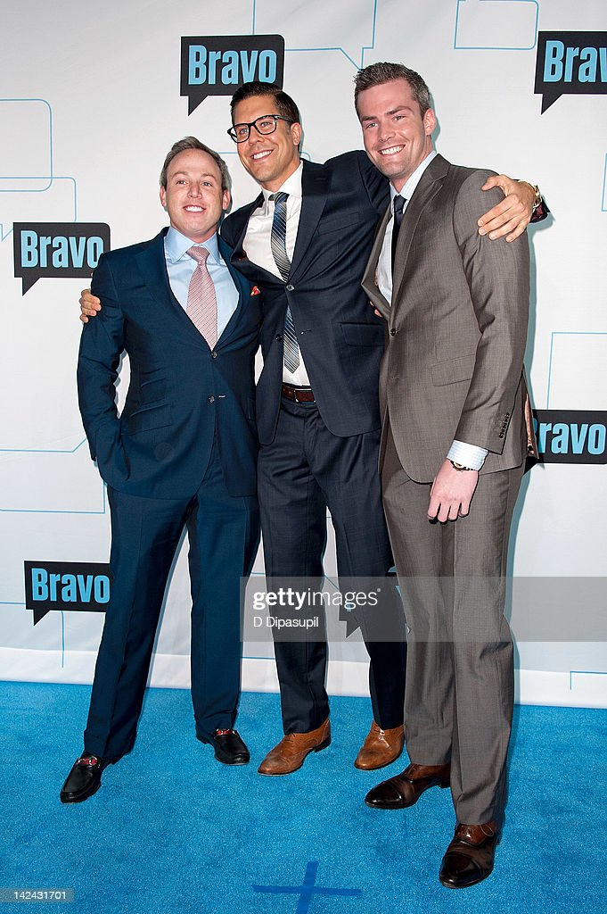 Michael Lorber, Fredrik Eklund, and Ryan Serhant of Million Dollar Listing New York attend Bravo Upfront 2012 at Center 548 on April 4, 2012 in New York City.