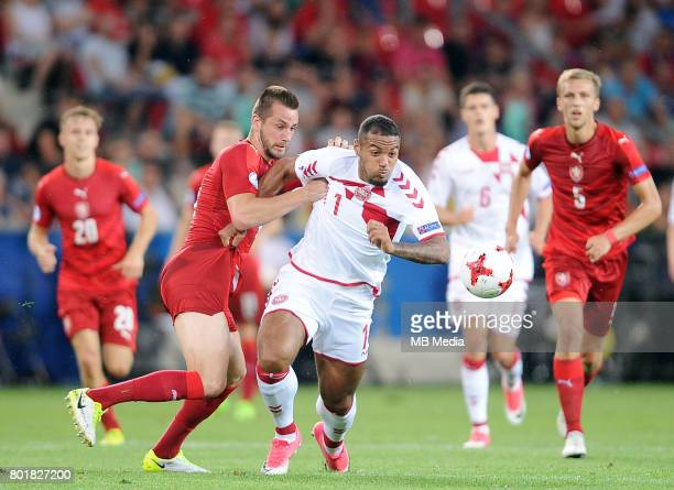 Michael Luftner Kenneth Zohore during the UEFA European Under21 match between Czech Republic and Denmark at Arena Tychy on June 24 2017 in Tychy...