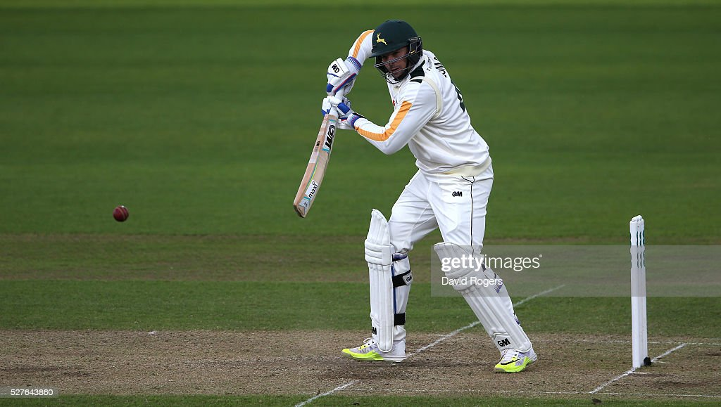 Michael Lumb of Nottinghamshire bats during the Specsavers County Championship division one match between Nottinghamshire and Yorkshire at the Trent Bridge on May 3, 2016 in Nottingham, England.