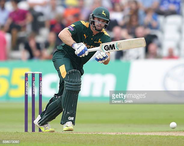 Michael Lumb of Notts Outlaws bats during the NatWest T20 Blast match between Notts Outlaws and Lancashire Lightning at Trent Bridge on June 4 2016...