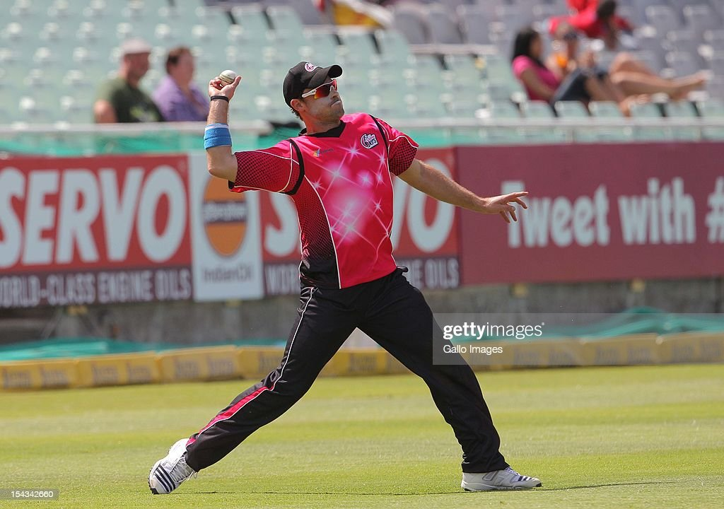 Michael Lumb of the Sydney Sixers during the Karbonn Smart CLT20 match between bizbub Highveld Lions (South Africa) and Sydney Sixers (Australia) at Sahara Park Newlands on October 18, 2012 in Cape Town, South Africa.
