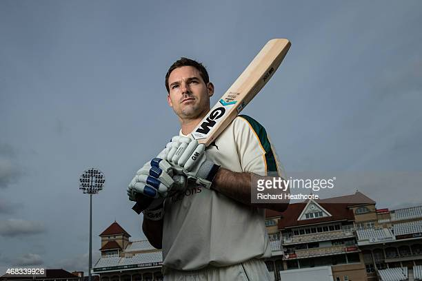 Michael Lumb poses for a portrait during the Nottinghamshire County Cricket Photocall at Trent Bridge on April 2 2015 in Nottingham England