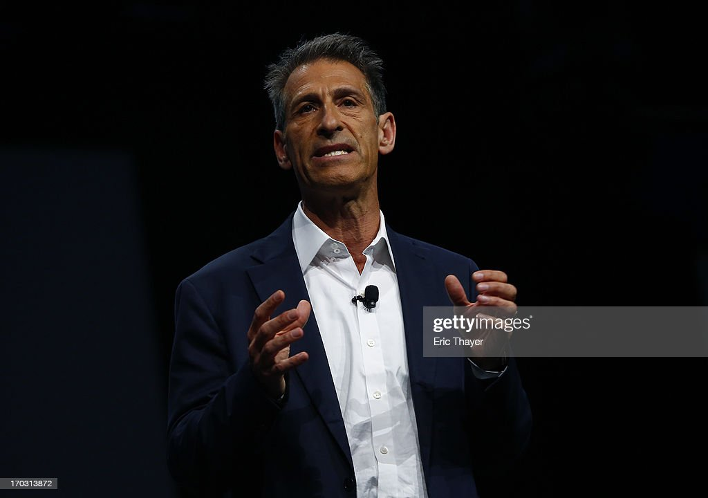 Michael Lynton, CEO of Sony Entertainment and Chairman and CEO Sony Pictures Entertainment, speaks at the Sony Playstation E3 2013 press conference June 10, 2013 in Los Angeles, California. Thousands are expected to attend the annual three-day convention to see the latest games and announcements from the gaming industry.