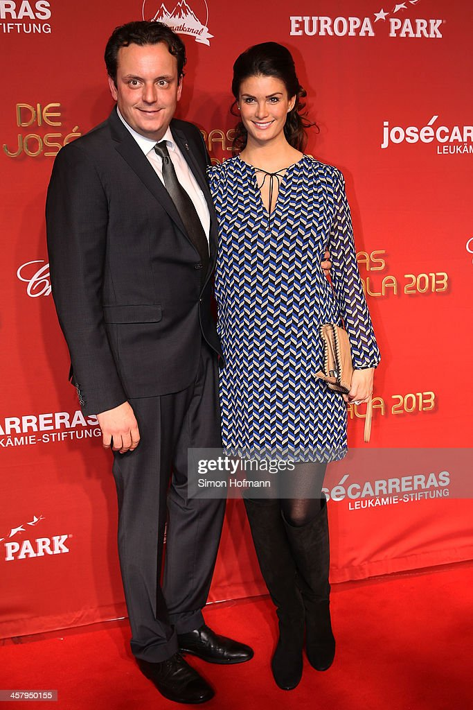 Michael Mack and Miriam Mack attend the 19th Annual Jose Carreras Gala at Europapark on December 19, 2013 in Rust, Germany.