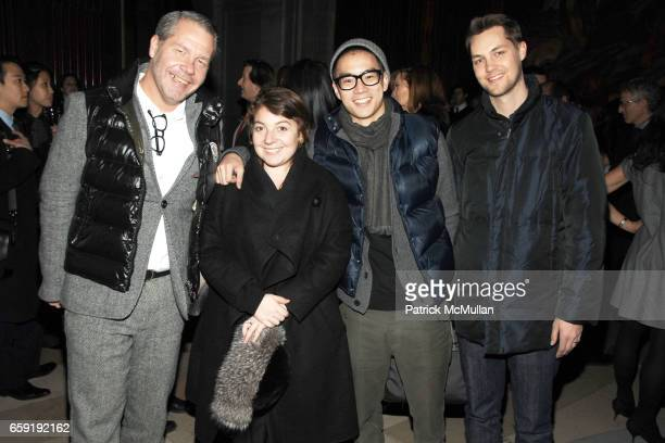 Michael Macko Courtney Colavita Eugene Tong and Micah Johnson attend DAVID YURMAN Classic Timepiece Launch at The New York Public Library on February...