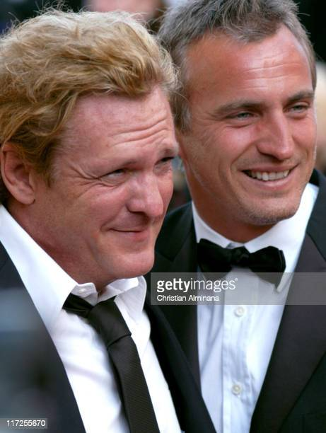 Michael Madsen and David Ginola during 2005 Cannes Film Festival Star Wars Episode III Revenge of the Sith Premiere in Cannes France