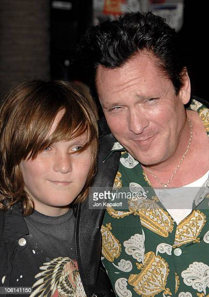 Michael Madsen and his kids during 'The Astronaut Farmer' Los Angeles Premiere Arrivals at Cinerama Dome in Hollywood California United States