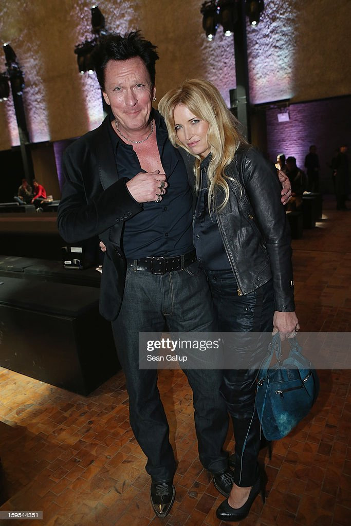 <a gi-track='captionPersonalityLinkClicked' href=/galleries/search?phrase=Michael+Madsen&family=editorial&specificpeople=171692 ng-click='$event.stopPropagation()'>Michael Madsen</a> and his wife DeAnna attend the G-Star Autumn/Winter 2013 runway show at St. Agnes Church on January 15, 2013 in Berlin, Germany.