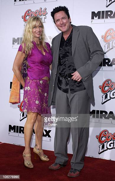 Michael Madsen and wife Deanna during 'Kill Bill Vol 1' Premiere Red Carpet at Grauman's Chinese Theater in Hollywood California United States