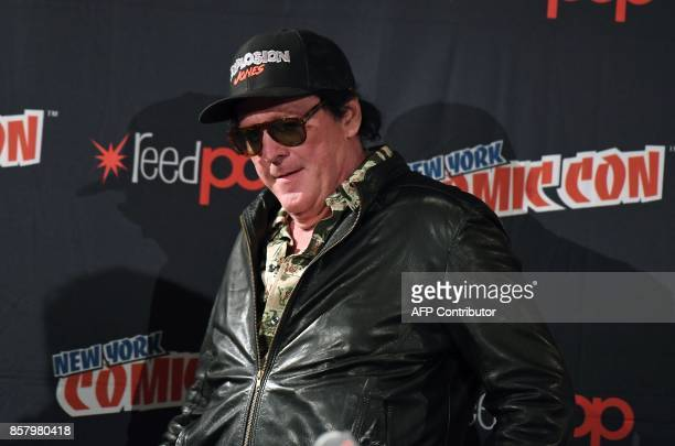 Michael Madsen attends the 'Explosion Jones' Panel at the 2017 New York Comic Con 2017 at Javits Center on October 5 2017 in New York City / AFP...