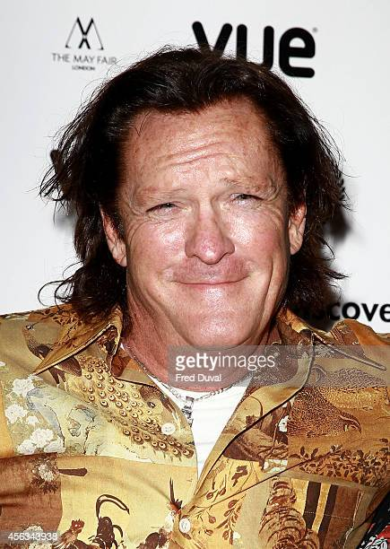 Michael Madsen attends the Ninth Gate European Premiere at Vue Leicester Square on September 29 2014 in London England