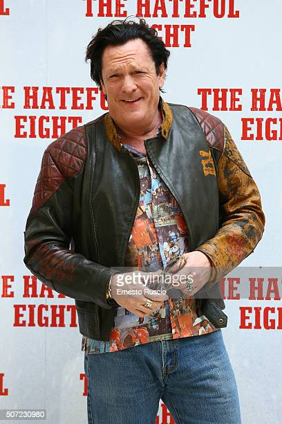 Michael Madsen attends the 'The Hateful Eight' photocall at Hassler Hotel on January 28 2016 in Rome Italy