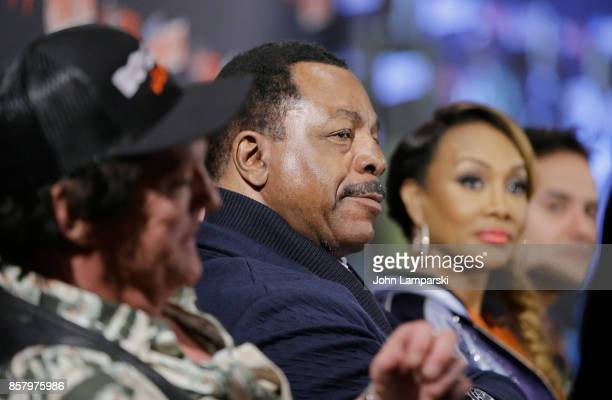 Michael Madsen Carl Weathers and Vivica A Fox speak during the Explosion Jones panel during the 2017 New York Comic Con Day 1 on October 5 2017 in...