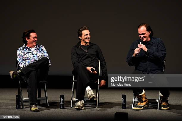 Michael Madsen Lawrence Bender and Quentin Tarantino speak at the 'Reservoir Dogs' 25th Anniversary Screening during the 2017 Sundance Film Festival...