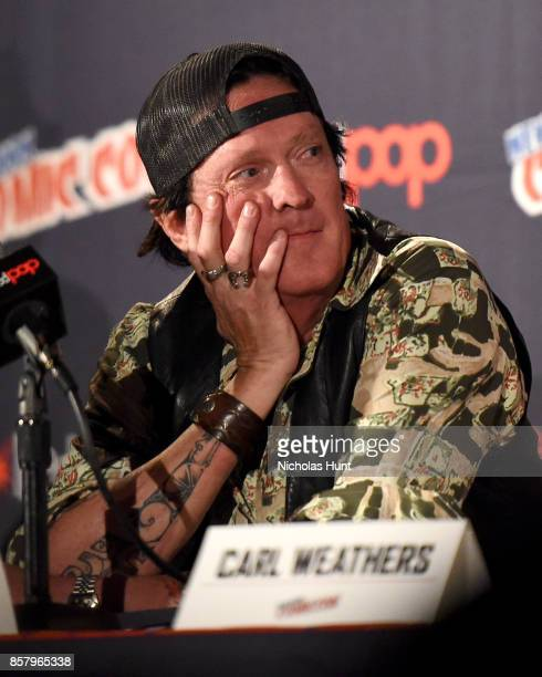 Michael Madsen speaks during the Explosion Jones Panel at the 2017 New York Comic Con Day 1 on October 5 2017 in New York City