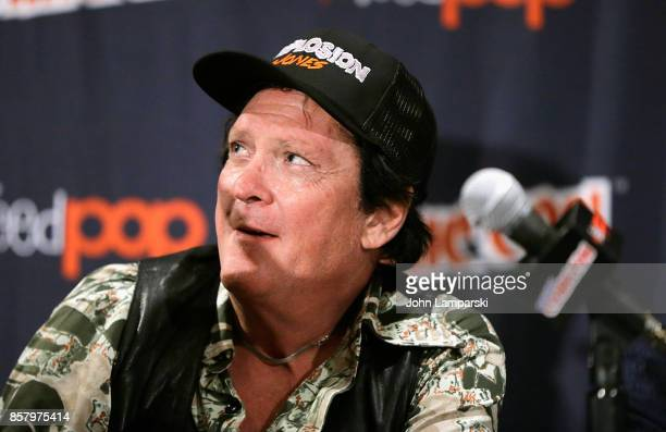 Michael Madsen speaks during the Explosion Jones panel during the 2017 New York Comic Con Day 1 on October 5 2017 in New York City