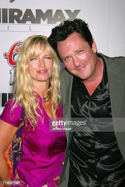 Michael Madsen wife Deanna during 'Kill Bill Vol 1' Premiere Arrivals at Grauman's Chinese Theatre in Hollywood California United States