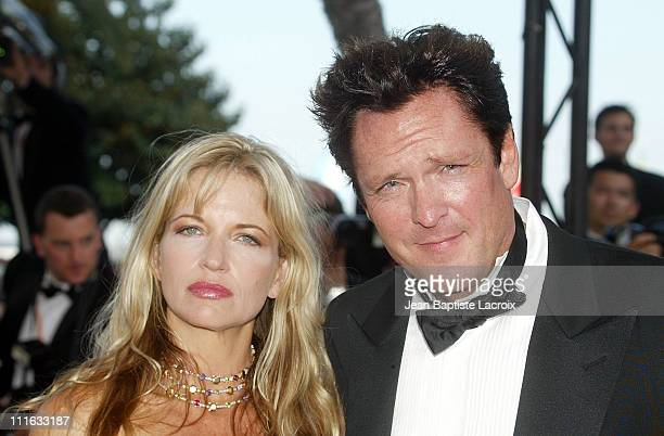 Michael Madsen wife during 2003 Cannes Film Festival 'Il Cuore Altrove' Premiere at Palais des Festivals in Cannes France