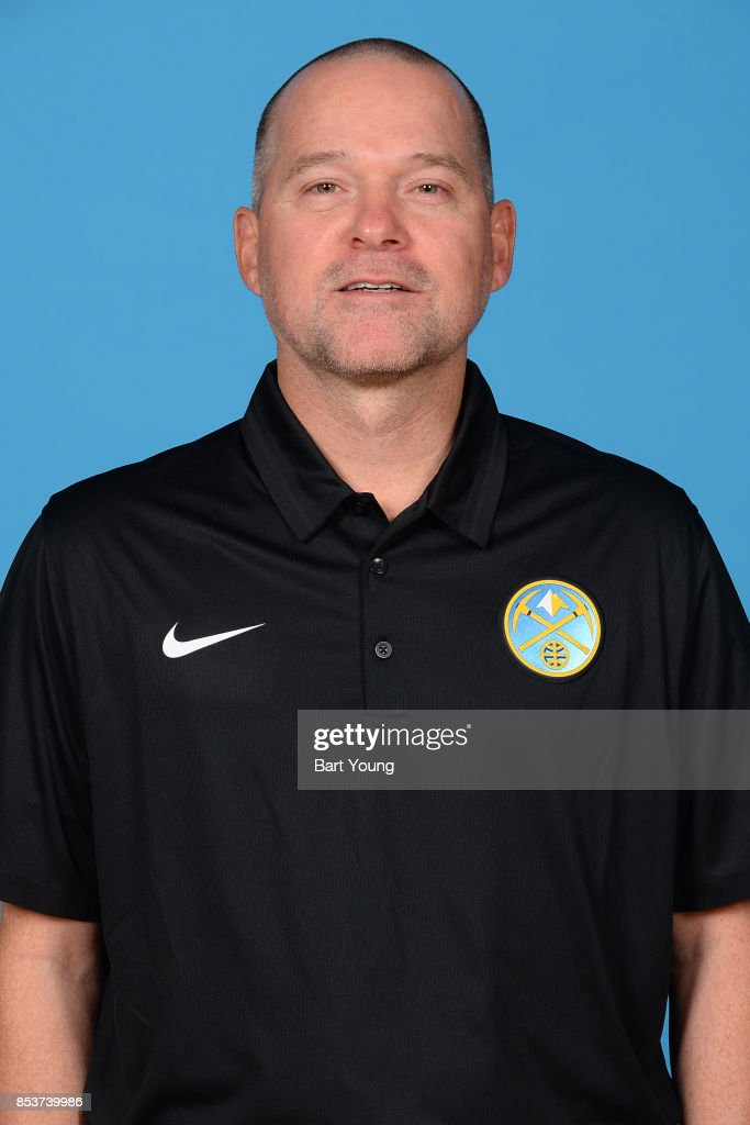 Michael Malone of the Denver Nuggets poses for a head shot during Media Day on September 25, 2017 at the Pepsi Center in Denver, Colorado.