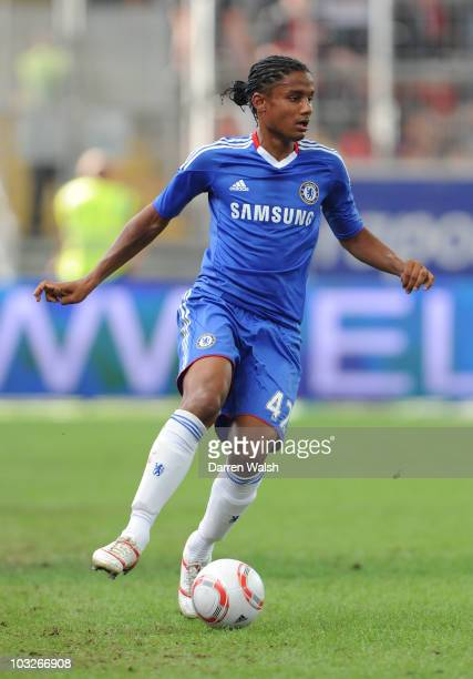 Michael Mancienne of Chelsea during a pre season friendly match between Eintracht Frankfurt v Chelsea on August 1 2010 in Frankfurt am Main Germany