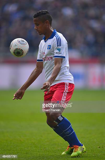 Michael Mancienne of Hamburg in action during the Bundesliga match between Hannover 96 and Hamburger SV at HDIArena on April 12 2014 in Hanover...