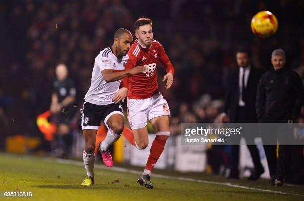 Michael Mancienne of Nottingham Forest and Denis Odoi of Fulham in action during the Sky Bet Championship match between Fulham and Nottingham Forest...