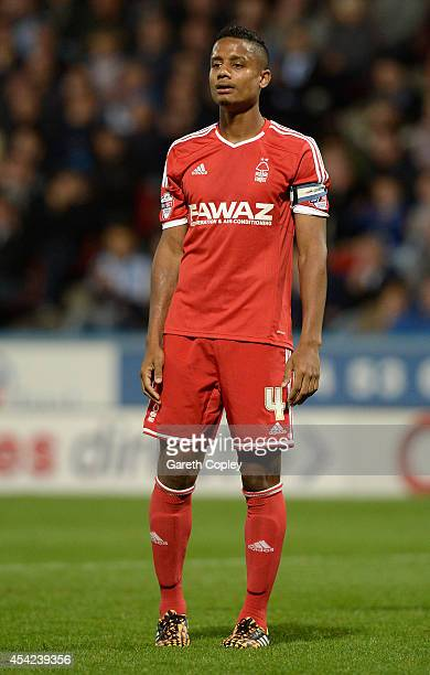 Michael Mancienne of Nottingham Forest during the Capital One Cup Second Round match between Huddersfield Town and Nottingham Forest at Galpharm...