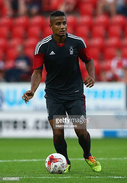 Michael Mancienne of Nottingham Forest in action during the Pre Season Friendly match between Rotherham United and Nottingham Forest at The New York...