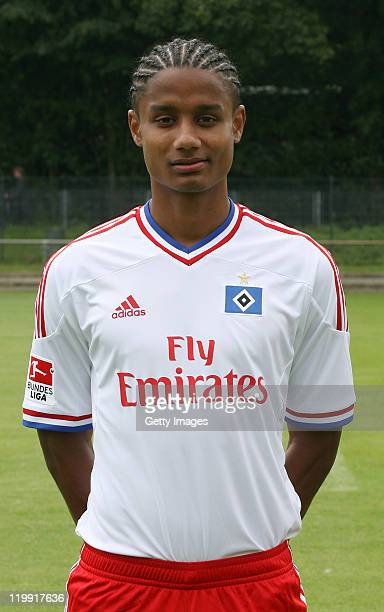 Michael Mancienne of the Hamburger SV poses during the Hamburger SV team presentation at Imtech Arena on July 26 2011 in Hamburg Germany