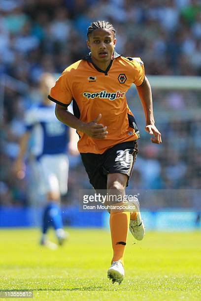 Michael Mancienne of Wolves in action during the Barclays Premier League match between Birmingham City and Wolverhampton Wanderers at St Andrews on...